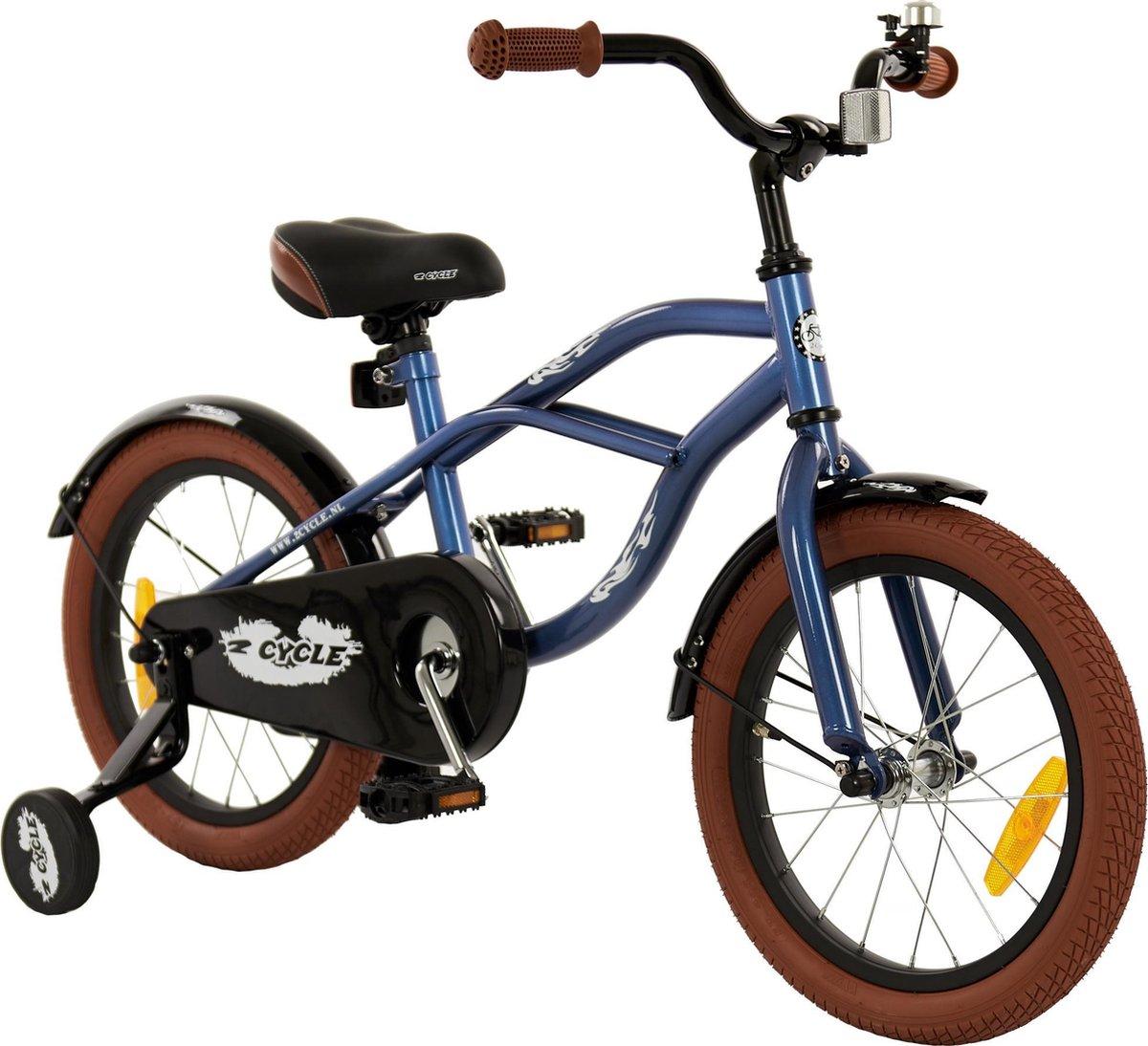 2Cycle Cruiser Kinderfiets - 16 inch - Blauw - Jongensfiets