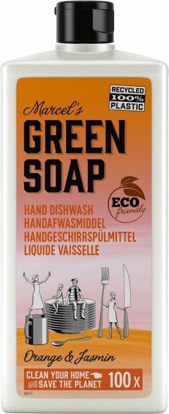 6x Marcel's Green Soap Afwasmiddel Sinaasappel & Jasmijn 500 ml