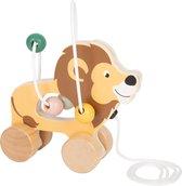 Trekfiguur Leeuw - Houten speelgoed vanaf 1 jaar
