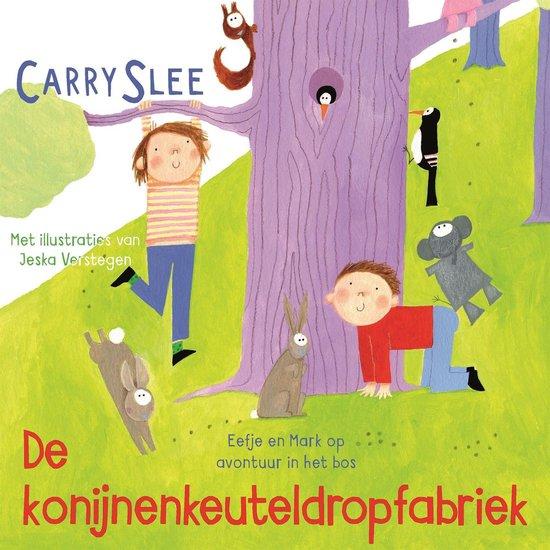 Boek cover De konijnenkeuteldropfabriek van Carry Slee (Onbekend)