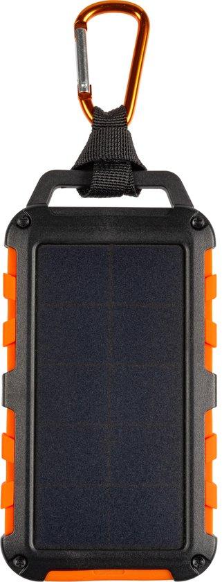Xtorm Solar powerbank - Outdoor oplader op zonne-energie – 10.000 mAh – led power indicator – USB 2x – USB-C en met Flashlight - oranje