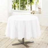 Wit tafelkleed van polyester met formaat rond 180 cm - Basic eettafel tafelkleden