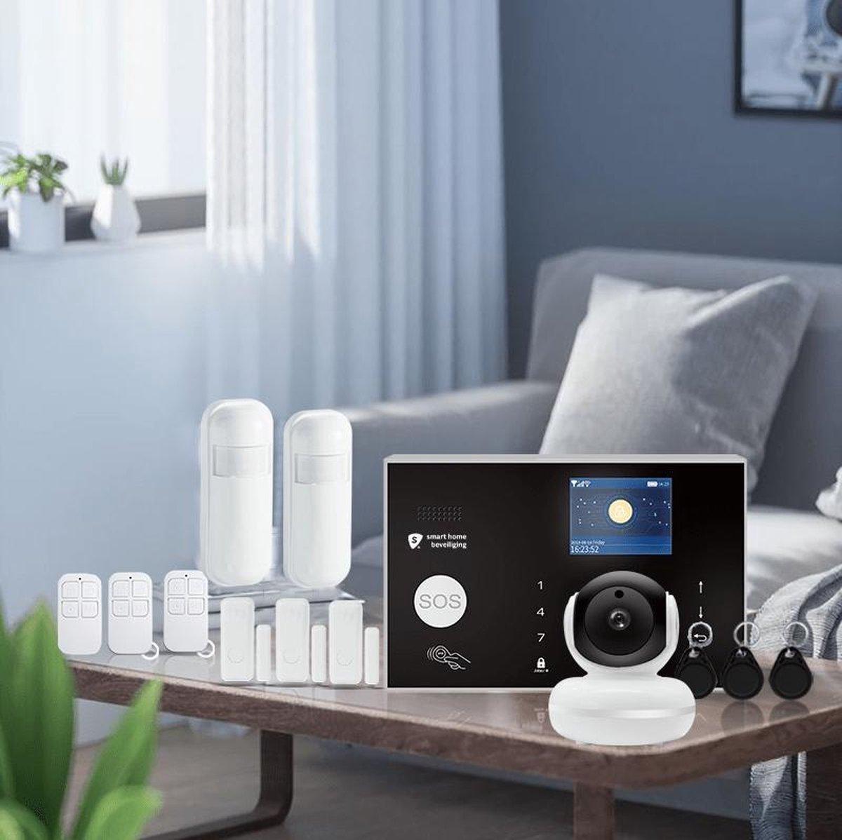 Alarmhub 2 pro alarmsysteem + indoor eye camera - Smart Home Beveiliging - Melding via app, SMS en oproep - Cijfercode - RFID tag - SIM kaart - Thuis modus - Back up batterij - Intercom - Betrouwbaar alarmsysteem - Google home, Alexa en IFTTT