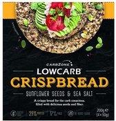 CarbZone | Low Carb Crispbread | Zonnebloempit en Zeezout | 1 x 200 gram  | Eiwitrijke voeding | Koolhydraatarme Crackers   | Snel afvallen zonder poespas!
