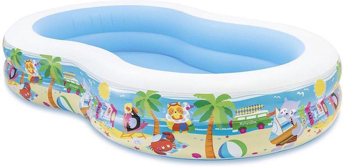 Intex Opblaasbaar Zwembad - 262 x 160 x 42 cm - Paradijs