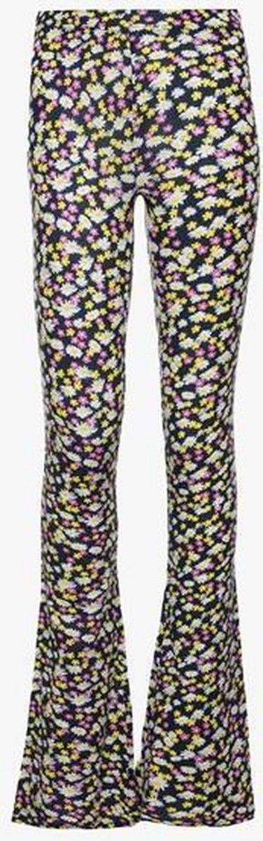 TwoDay meisjes flared broek met bloemenprint - Combinatie - Maat 158/164