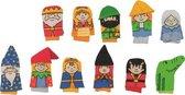 Vingerpop sprookjesfiguren  set 11 stuks
