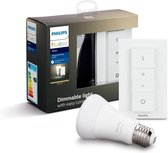 Philips Hue Draadloze Dimmerset met Lichtbron E27- White - 9W - Bluetooth - incl. Dimmer Switch