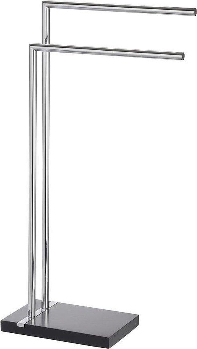 Wenko Handdoekhouder Noble 45,5 X 82 Cm Staal Chroom/zwart