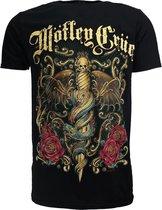 Mötley Crüe Exquisite Dagger T-Shirt Zwart