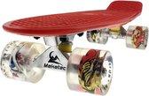 2Cycle Skateboard - LED Wielen - 22.5 inch - Rood