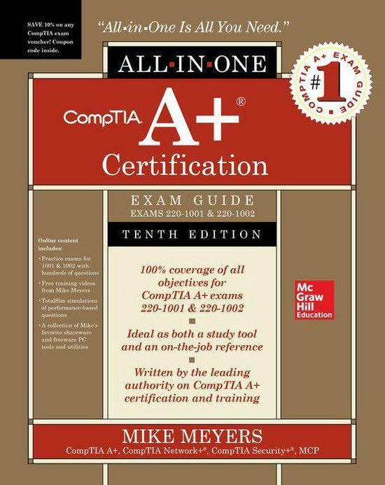 Boek cover CompTIA A+ Certification All-in-One Exam Guide, Tenth Edition (Exams 220-1001 & 220-1002) van Mike Meyers (Onbekend)