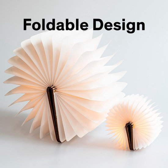 Houten Boek lamp - Sfeerverlichting - Bureaulamp - Leeslamp - 3 LED Lichtstanden - Houten Cover - Klein