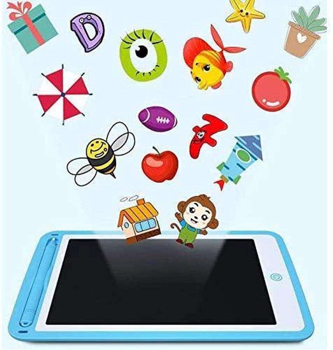 Tekentablet - Join Kleurrijk LCD-schrijftablet, 10 inch digitaal Ewriter elektronisch grafisch tekentablet wisbaar draagbaar Doodle-mini-board notitieblok voor kinderen, blauw