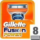 Gillette Fusion 5 Power Scheermesjes Mannen - 8 Stuks