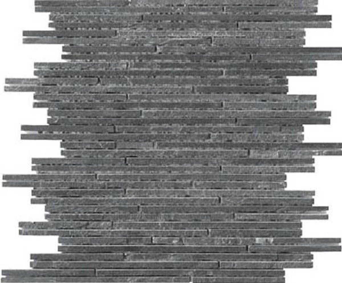 Alfa Mosaico Mozaiek Mármol antraciet marmer sticks (interlock) -  Antraciet Prijs per 1 matje. - Alfa Mosaico