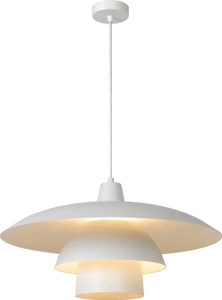 Lucide GITSY - Hanglamp - Ø 55 cm - 1xE27 - Wit