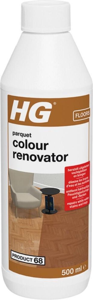 HG parket & hout colour renovator (HG product 68) - 500ml - herstelt de vloer
