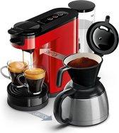 Philips Senseo Switch HD6592/80 - Koffiepadapparaat & Thermoskan - Rood