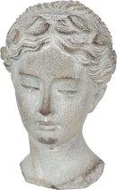 Clayre & Eef Decoratie Buste 6TE0293 12*11*17 cm - Grijs Steen Decoratief FiguurDecoratieve AccessoiresWoonaccessoires