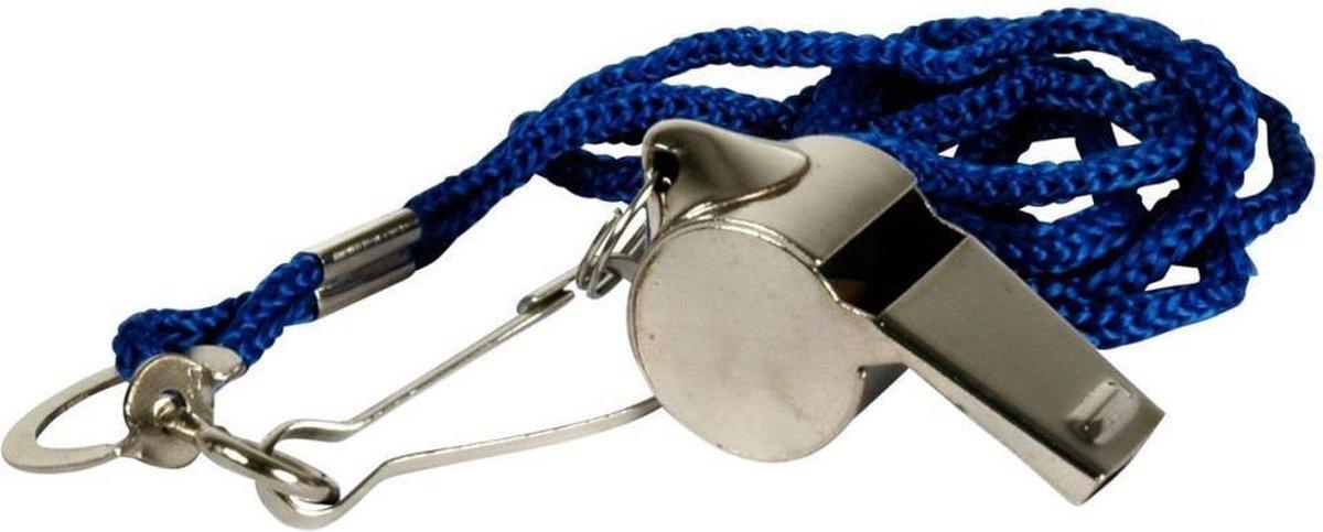 Sports Active Scheidsrechterfluit chroom met koord