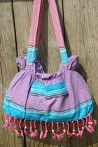 Kikoy Beach Baggie Watamu Purple - Kleine Strandtas - Kikoy Handtas