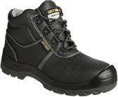 Safety Jogger Bestboy Werkschoen - Hoog model - S3 - Maat 44 - Zwart