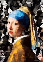 80 x 120 cm - glasschilderij - Meisje met de Parel - schilderij fotokunst - foto print op glas