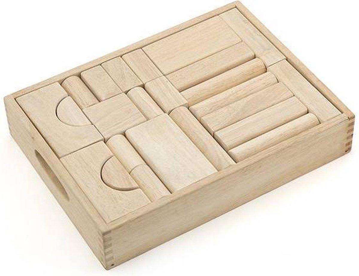 Vigatoys Jumboblokken in kist 46-dlg.