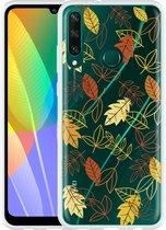 Huawei Y6p Hoesje Falling Leaves