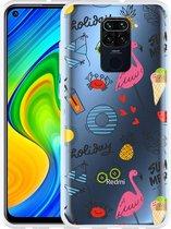 Xiaomi Redmi Note 9 Hoesje Summer Flamingo