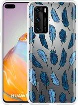 Huawei P40 Hoesje Feathers