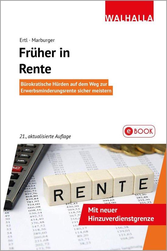 Boek cover Früher in Rente van Nikolaus Ertl (Onbekend)