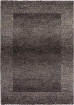 Grijs Tapijt Laagpolig Vloerkleed - Omid Minimalist - 160x230cm- Modern - Woonkamer - Salon - Slaapkamer - Eetkamer