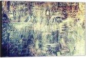 Dibond –Krijt op Schoolbord– 60x40 Foto op Aluminium (Wanddecoratie van metaal)