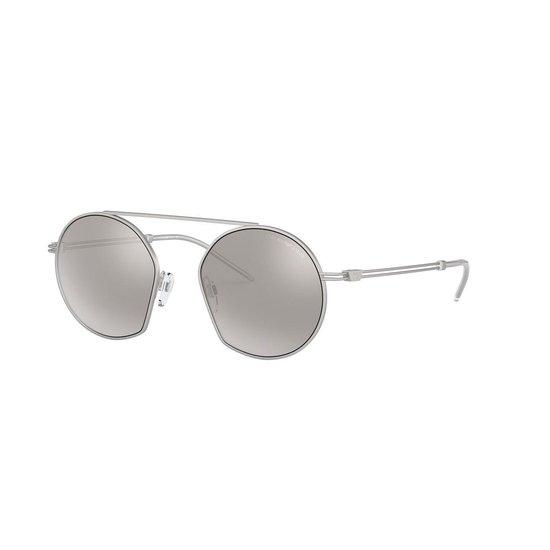 Emporio Armani Light Grey Mirror Silver Zonnebril  – Zilver