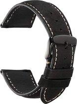 Garmin Vivoactive 4 leren bandje - zwart - 45mm