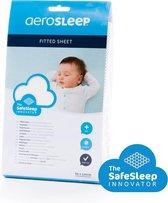 AeroSleep® SafeSleep hoeslaken - wieg - 80 x 50 cm - wit