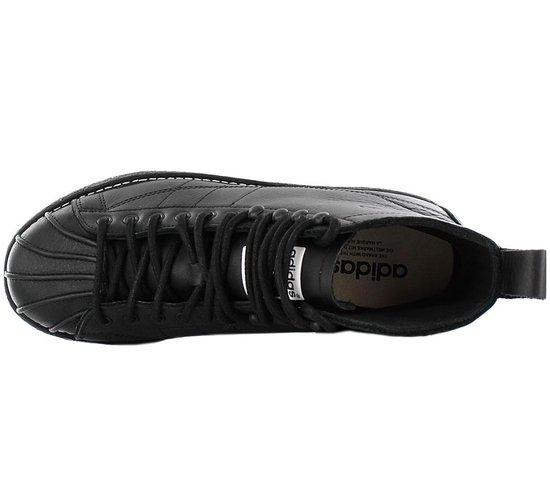 adidas Originals Superstar Boot Luxe W Dames Sneakers Sportschoenen Schoenen Leer Zwart AQ1250 Maat EU 44 UK 9.5