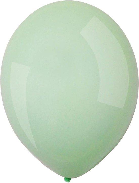 Amscan Ballonnen Macaron 13 Cm Latex Mintgroen 100 Stuks
