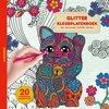 Afbeelding van het spelletje Glitter kleurplatenboek - Happiness