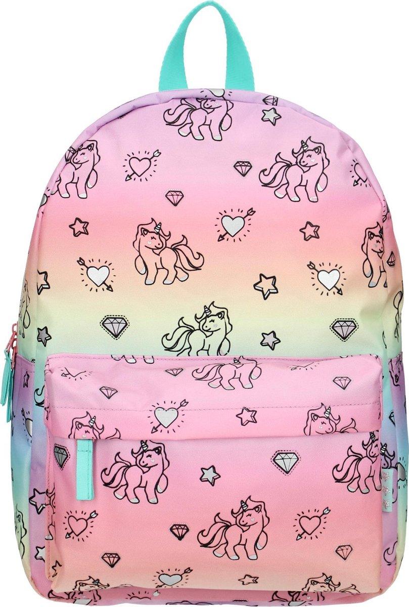 Milky Kiss Rainbows & Unicorns Kinderrugzak 13,6 liter - Regenboog en eenhoorn print