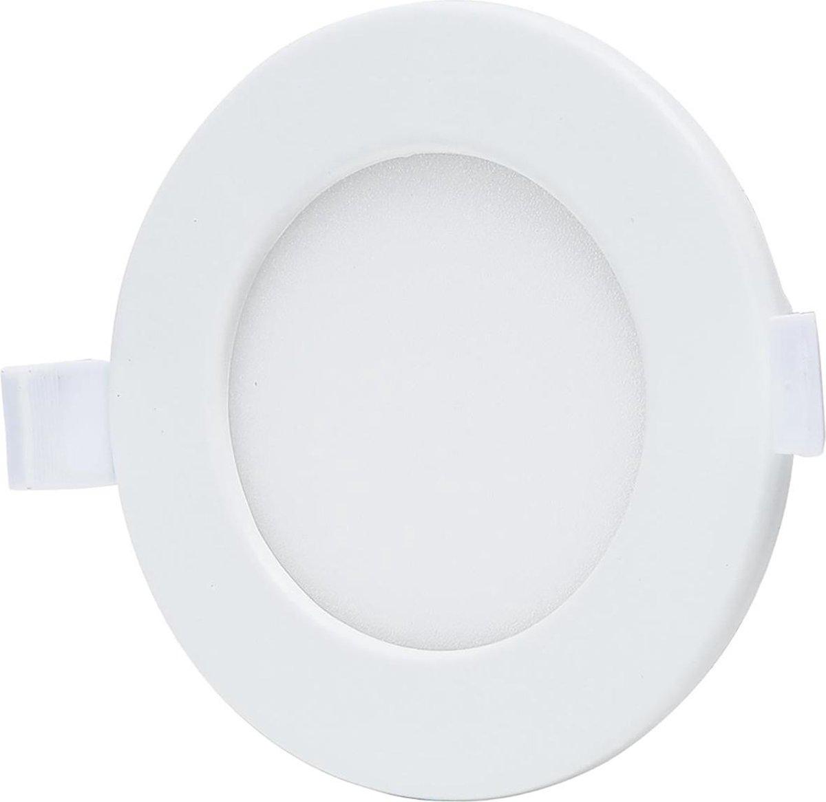 LED Downlight - Smart LED - Aigi Zumba - 6W - Aanpasbare Kleur - Inbouw Rond - Mat Wit - Aluminium - Ø105mm - BSE