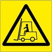 """Vloerpictogram """"let op: heftrucks""""  Geel & Zwart   Anti-slip-vloersticker"""