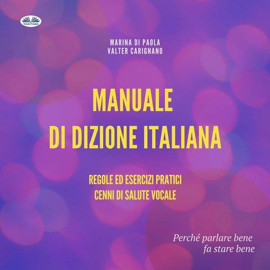 Boek cover Manuale di Dizione Italiana van Marina di Paola (Onbekend)
