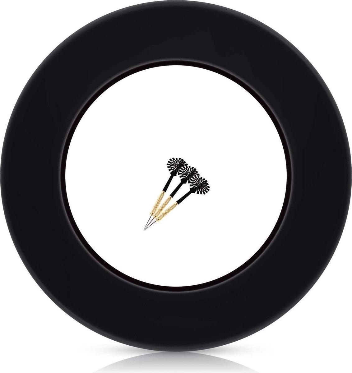 Dartbord Surround Ring - Zinaps Dart Surround voor alle Branded Dartboards - Dart Collection Ring in Black - Hoogwaardige stabiele rand - Wandbescherming voor het dartbord zonder extra bijlage - Professionele uitstraling- (WK 02127)