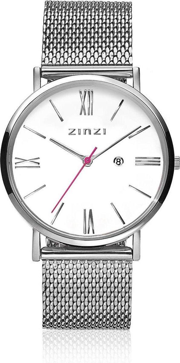 Zinzi Horloge Retro ZIW506M Zilverkleurig Ø32mm + gratis Zinzi armbandje