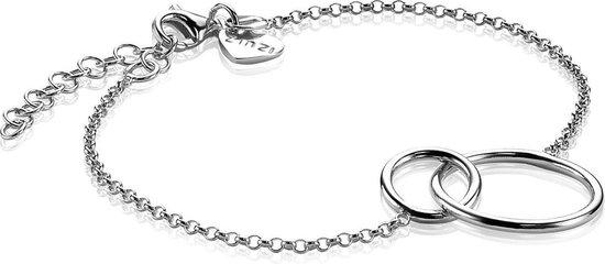 Zinzi Jewels Zilveren Armband  (Lengte: 16.00-19.00 cm) - Zilver