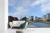 Fotobehang vinyl - De haven van het Engelse Liverpool breedte 540 cm x hoogte 360 cm - Foto print op behang (in 7 formaten beschikbaar)