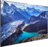 Himalaya landschap Nepal Aluminium 90x60 cm - Foto print op Aluminium (metaal wanddecoratie)